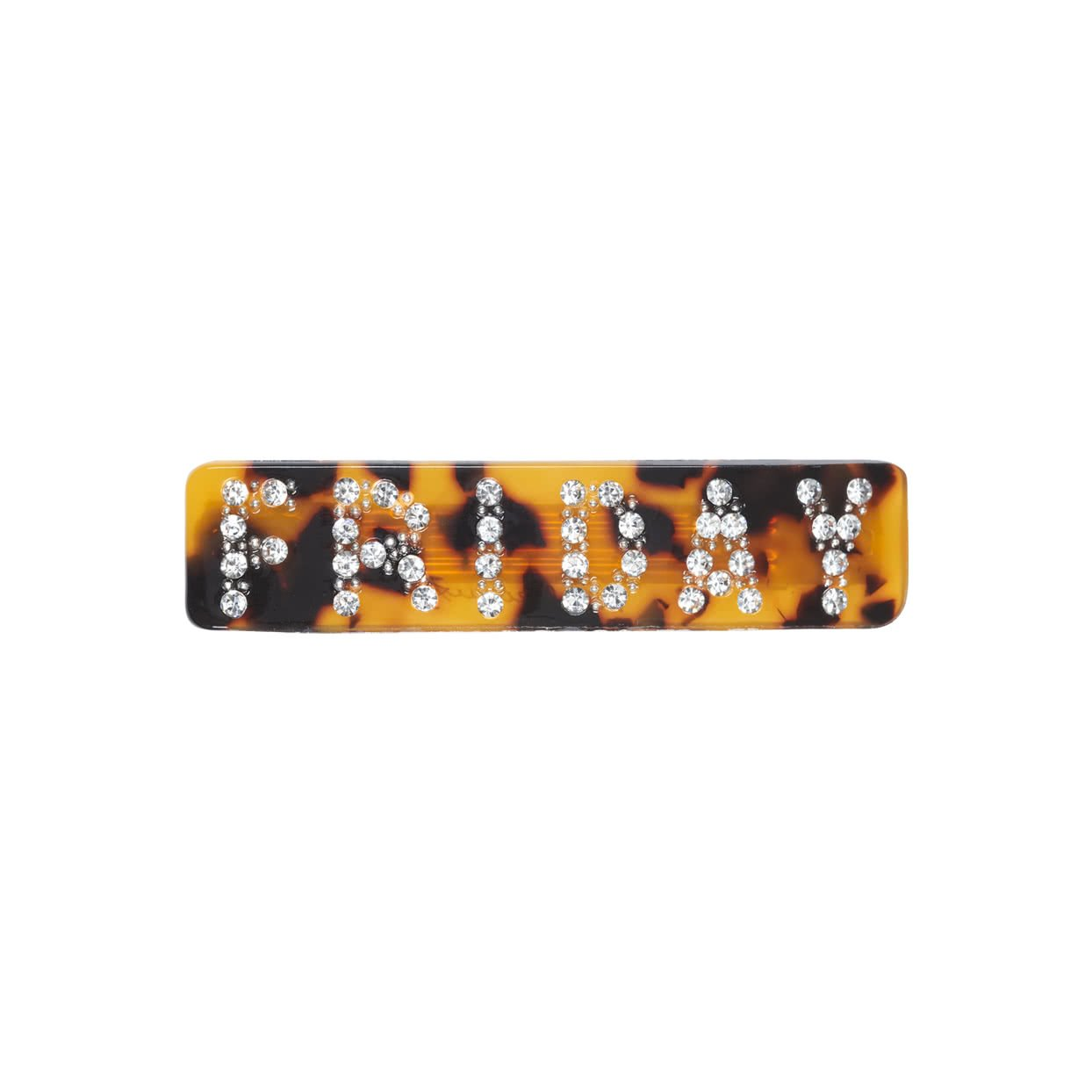 Image of Hair Barrette with crystals - Tortoise / Friday