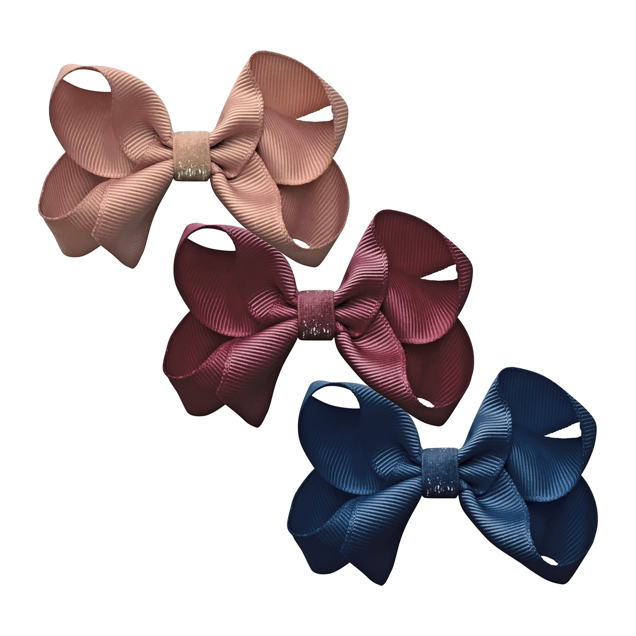 Image of Milledeux® gift set - Colored Glitter Collection - 3 Medium boutique bows - A128