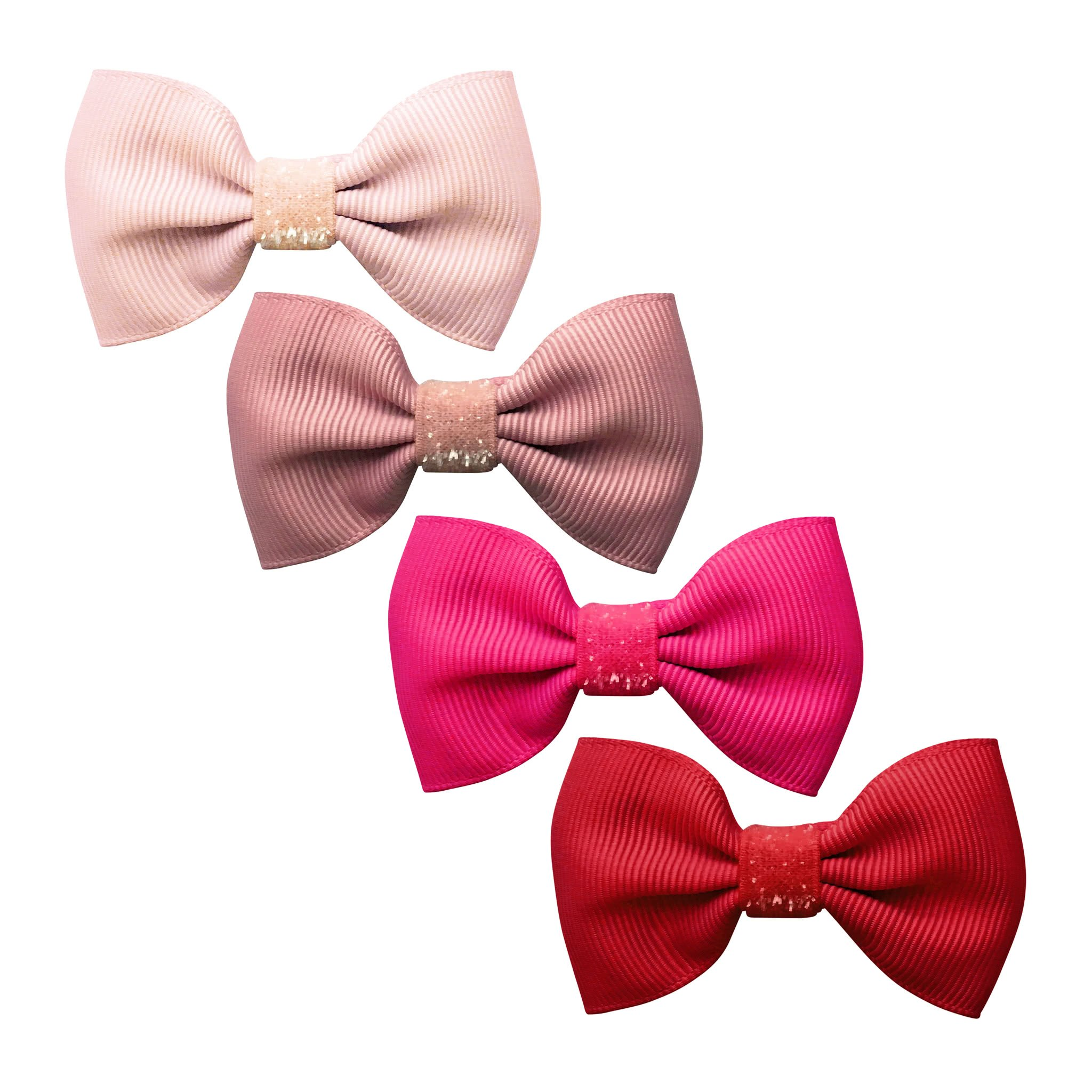 Image of Milledeux® Gift set - 4 Small bowtie bows - Colored Glitter - A130
