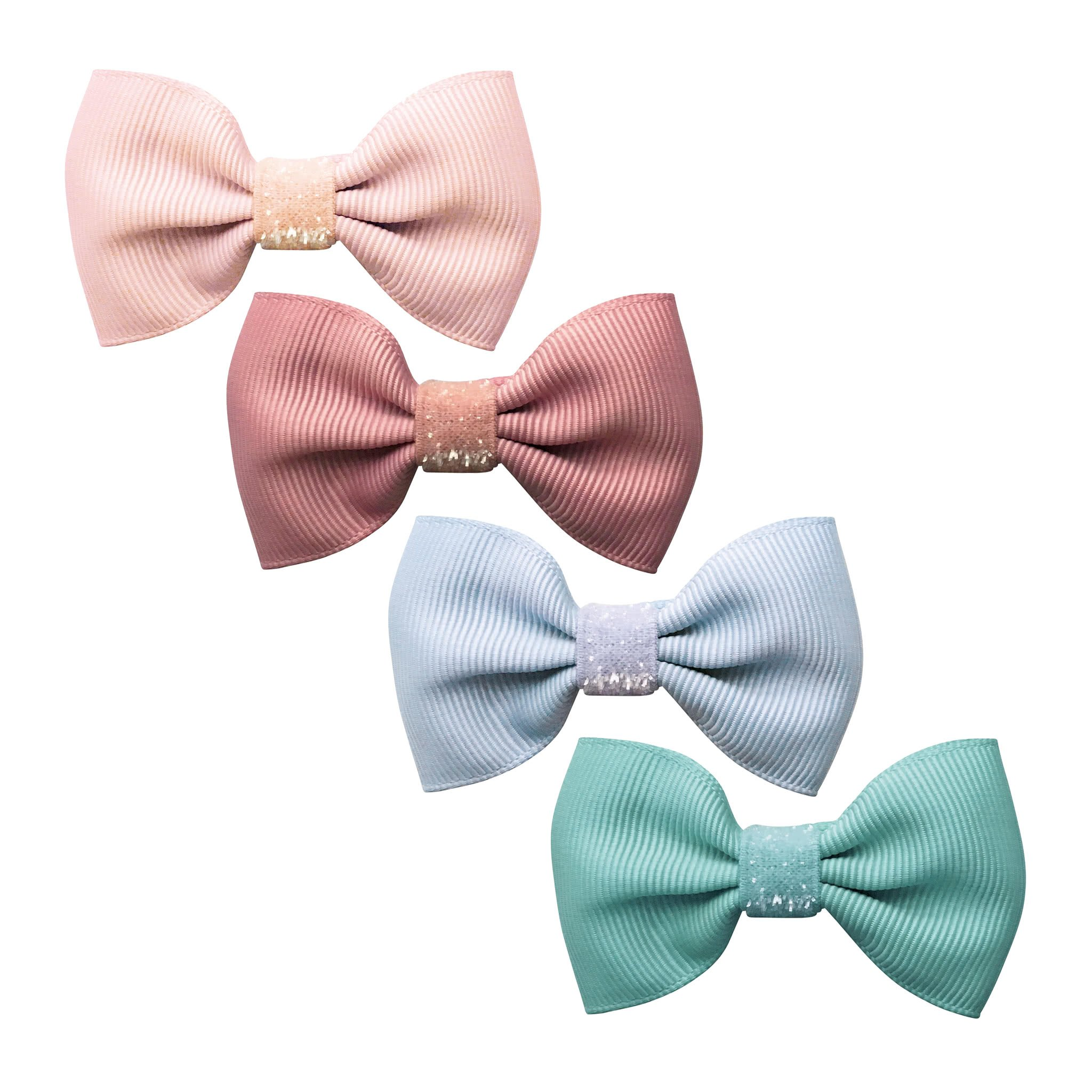 Image of Milledeux® Gift set - 4 Small bowtie bows - Colored Glitter - A131