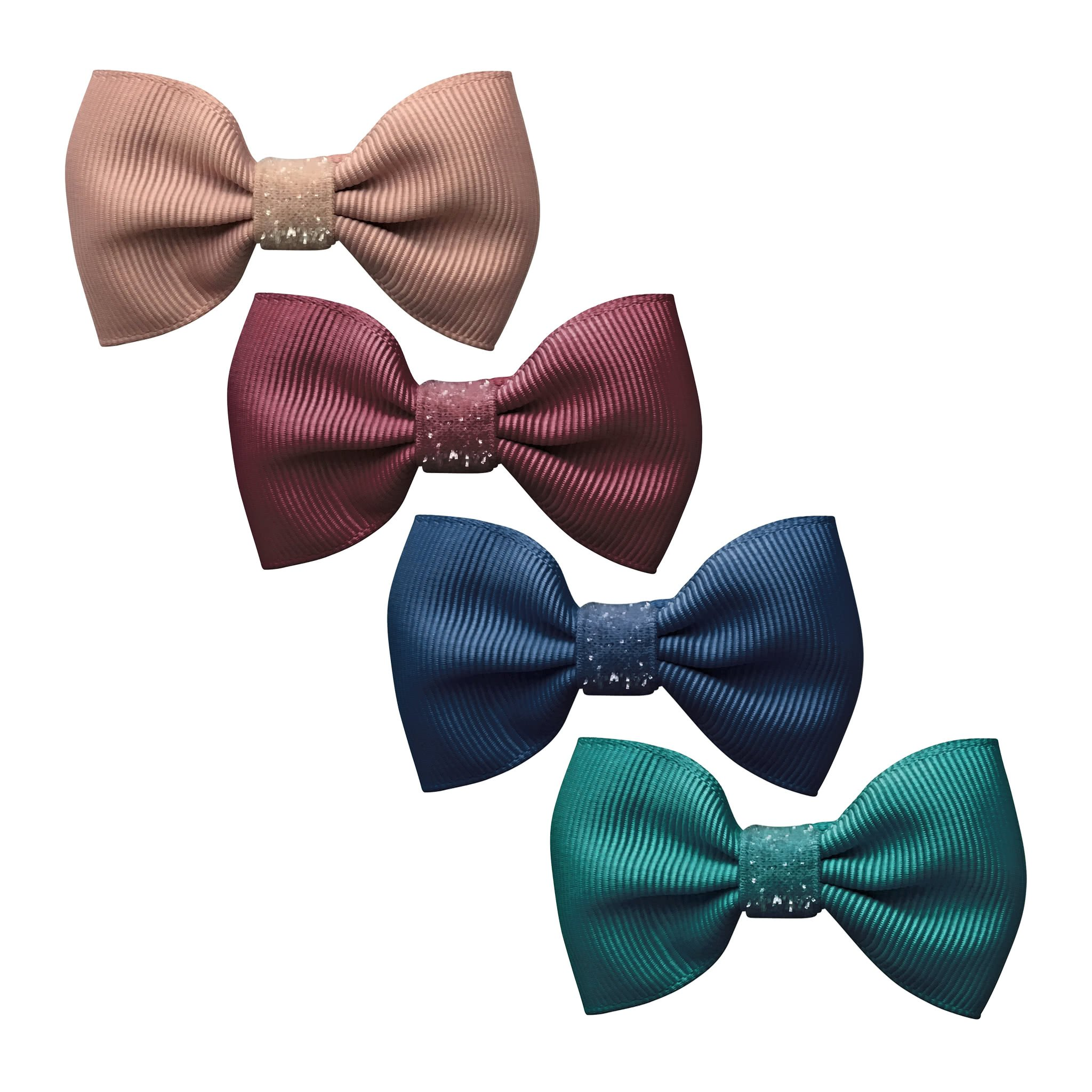 Image of Milledeux® Gift set - 4 Small bowtie bows - Colored Glitter - A133