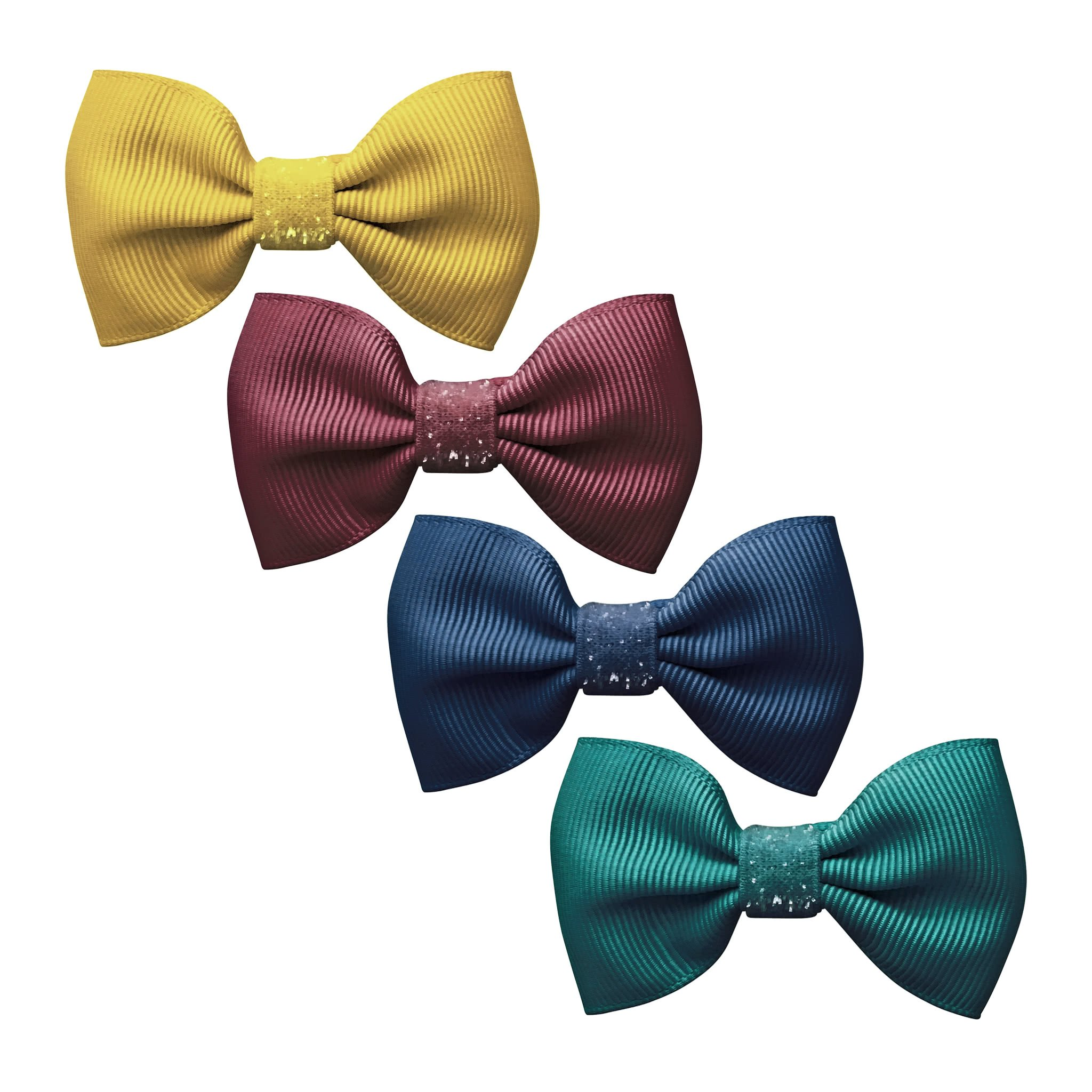 Image of Milledeux® Gift set - 4 Small bowtie bows - Colored Glitter - A134