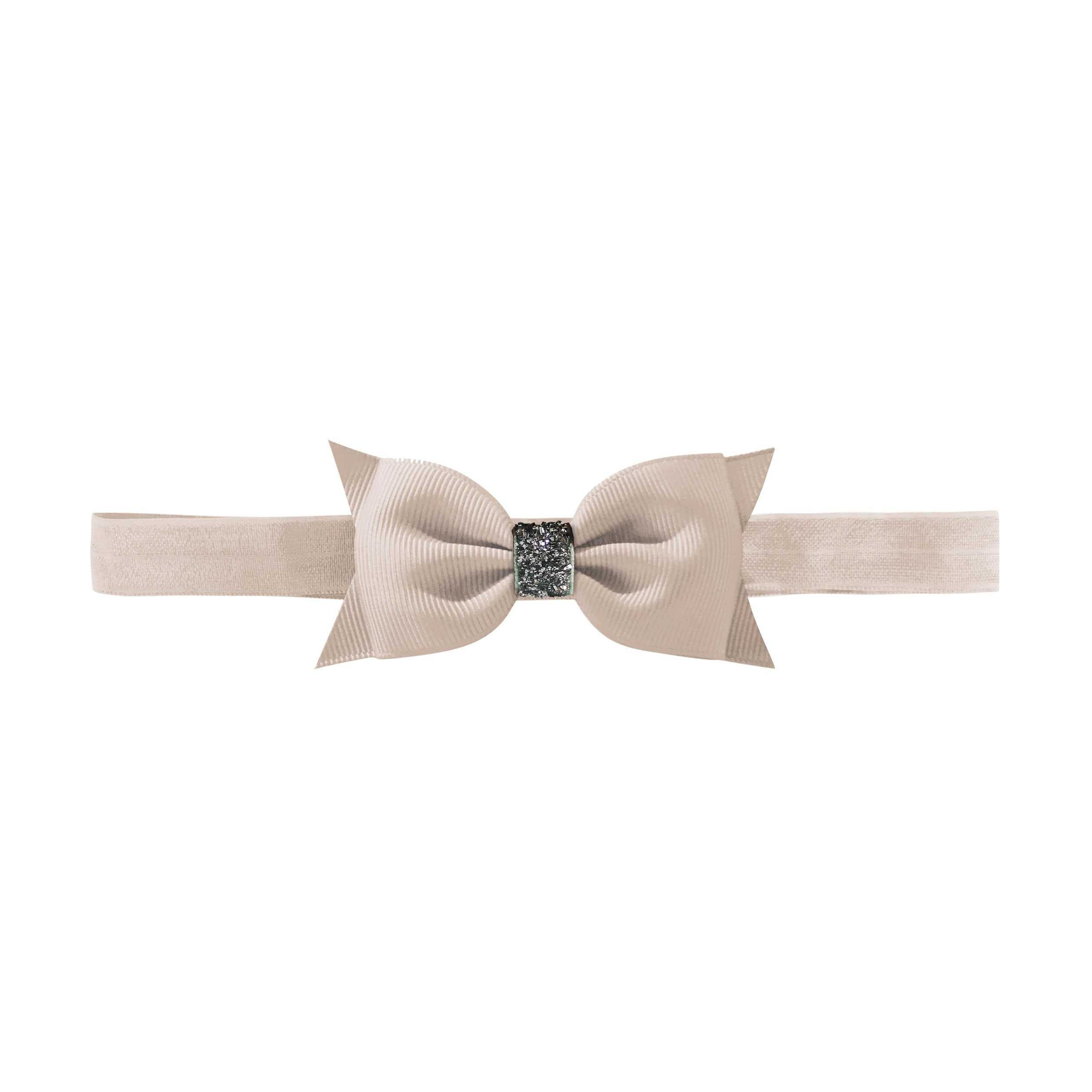 Image of   Double Bowtie bow - elastic hairband - carmandy glitter