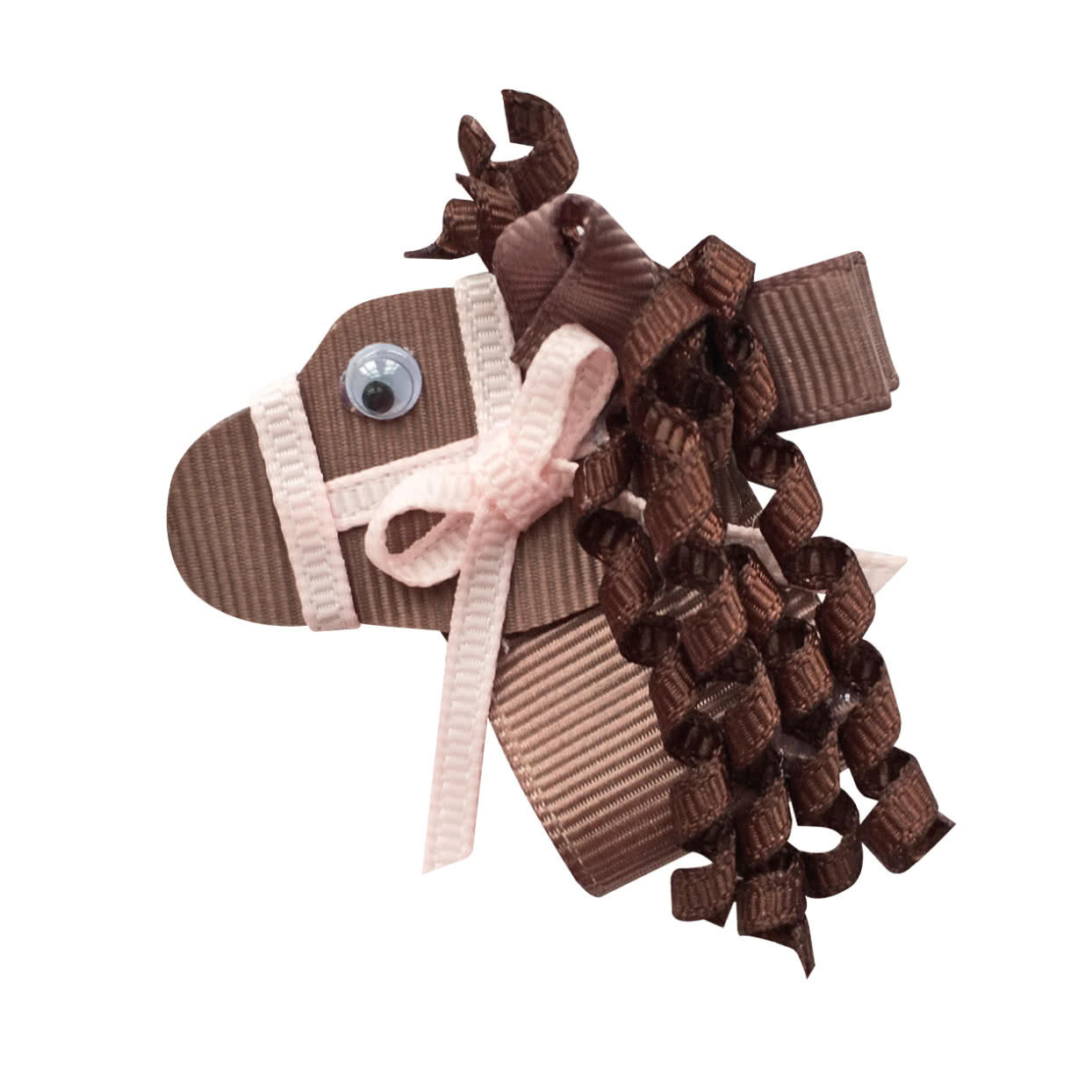 Image of Milledeux® Horse hair bow - alligator clip - brown