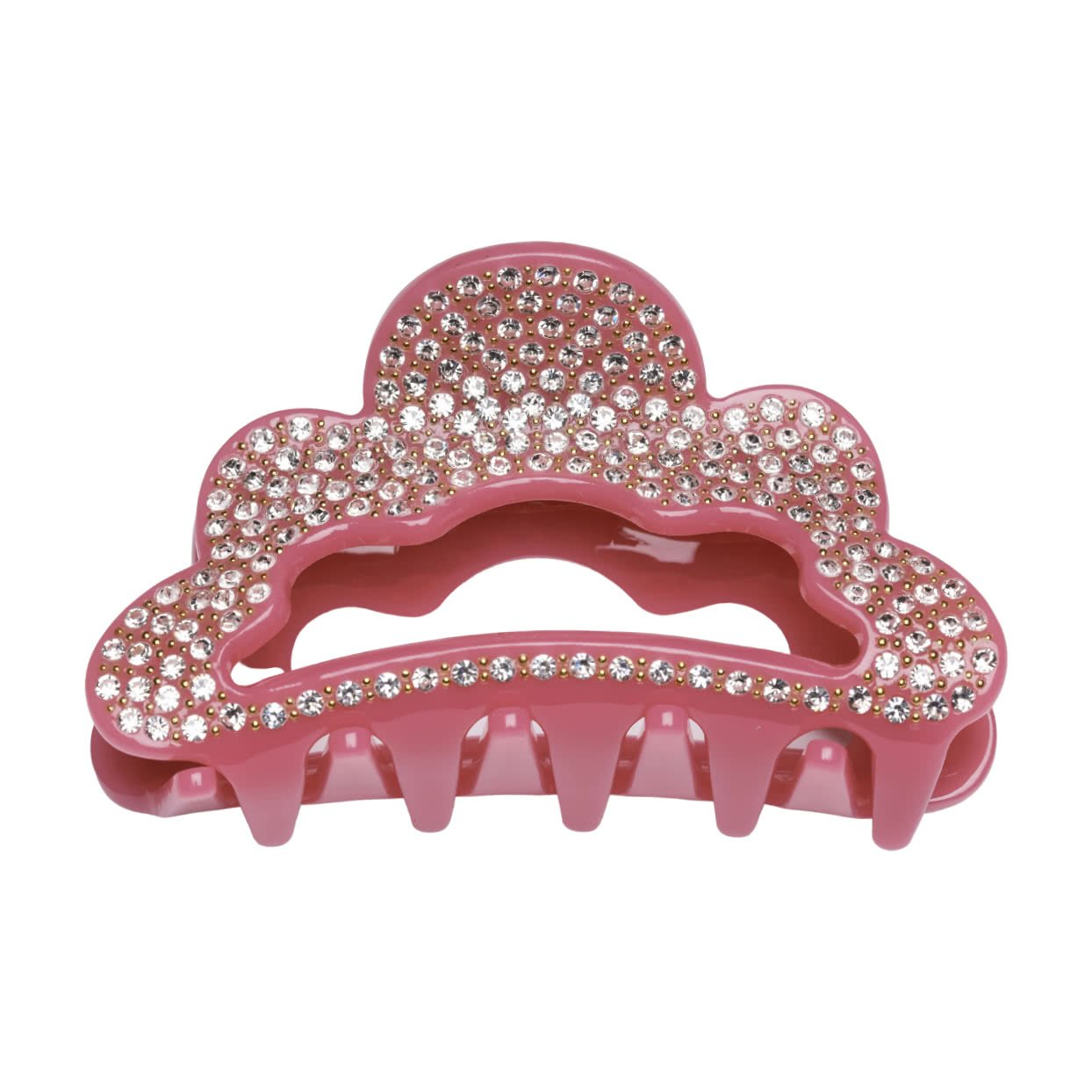 Image of Milledeux® Large Hair Claw with crystals - dark pink