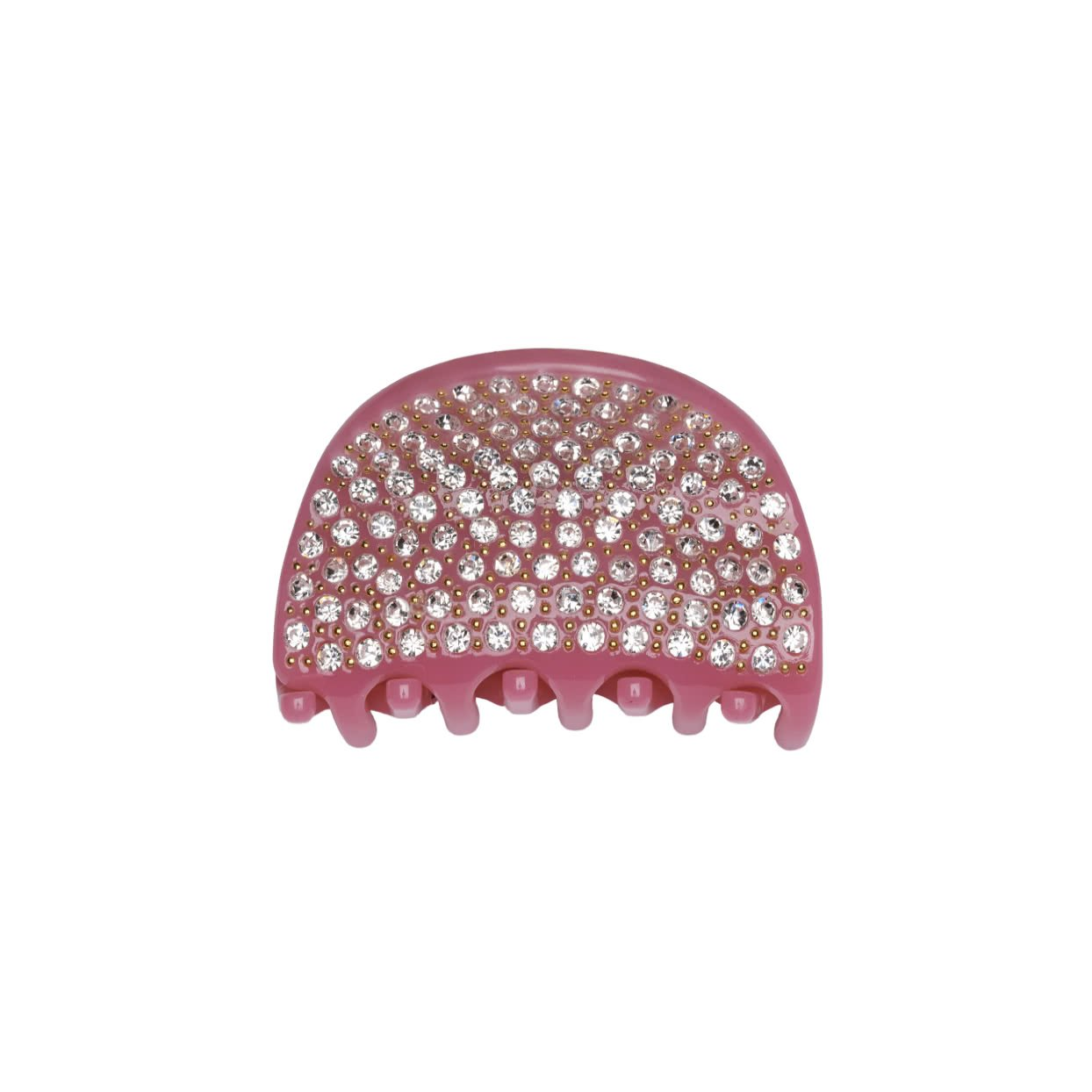 Image of Milledeux® Small Hair Claw with crystals - dark pink