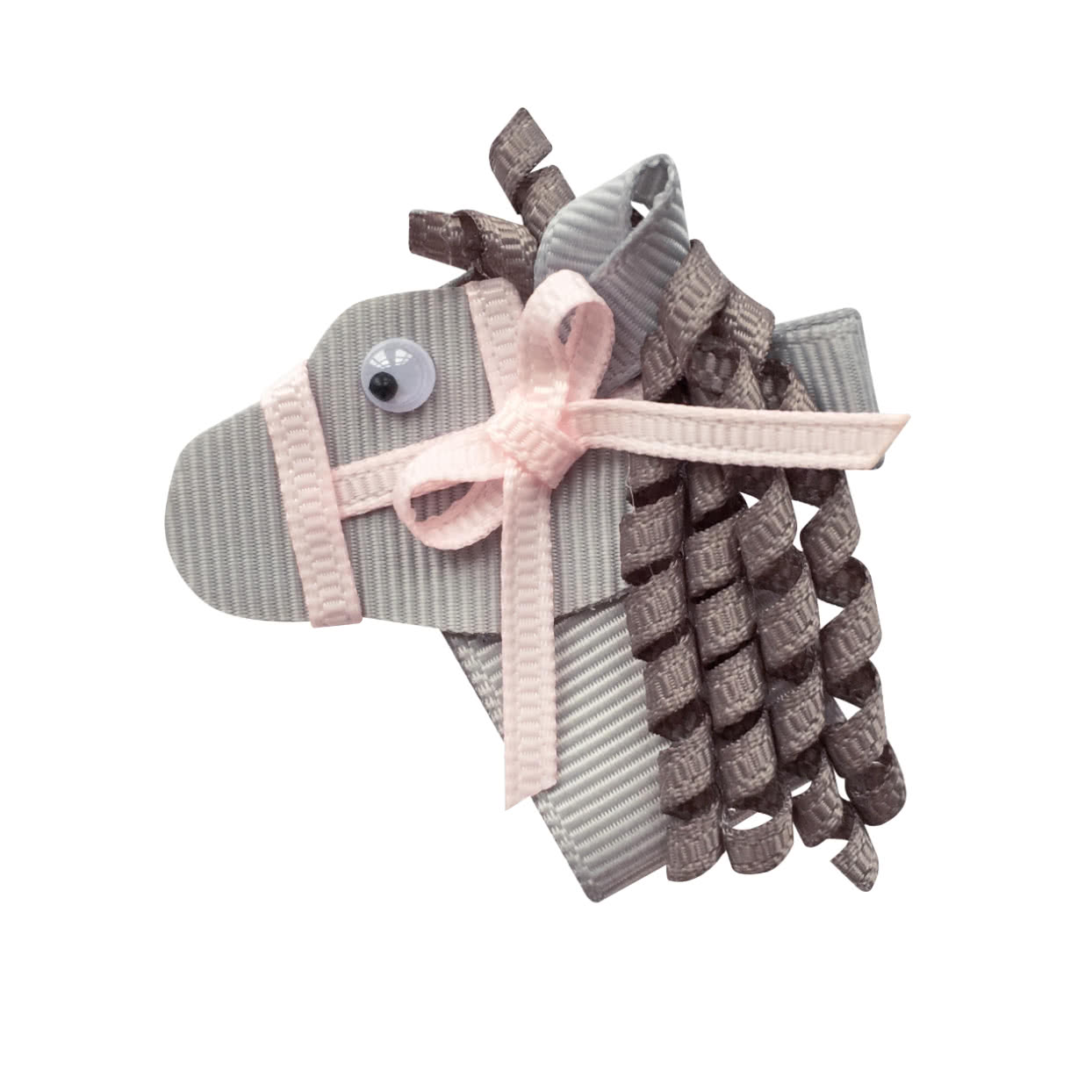 Image of Milledeux® Horse hair bow - alligator clip - Grey