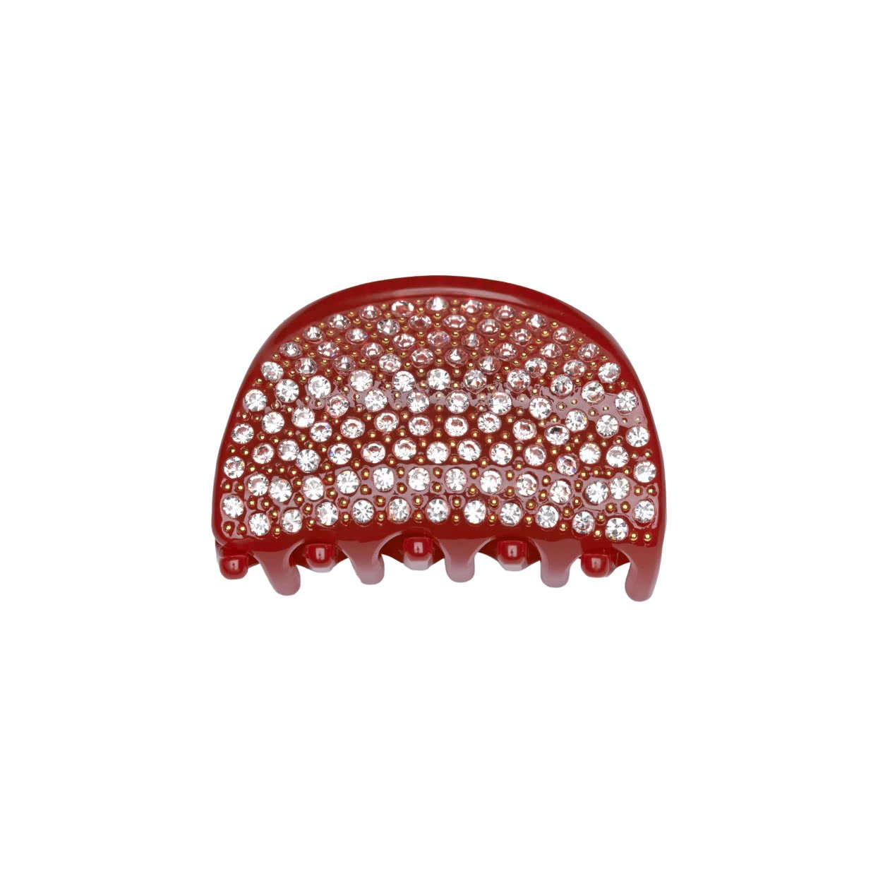 Image of Milledeux® Small Hair Claw with crystals - red