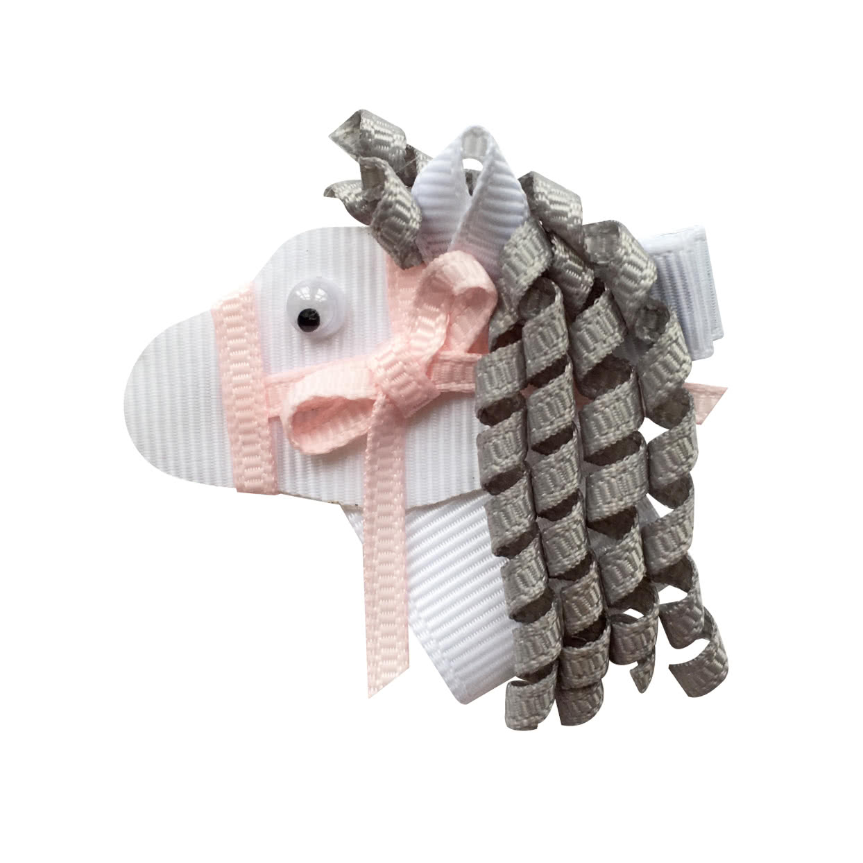 Image of Milledeux® Horse hair bow - alligator clip - white