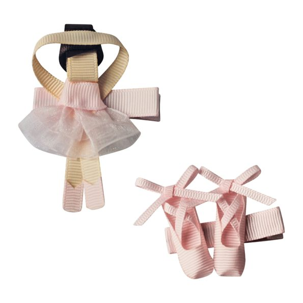 Gift set – Milledeux Ballerina and shoes – alligator clip – powder pink