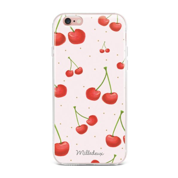 Milledeux Phone Cover – Cherries Pattern – Colored