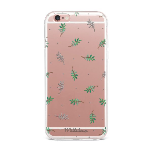 Milledeux Phone Cover – Glitter Pattern – Large Clear