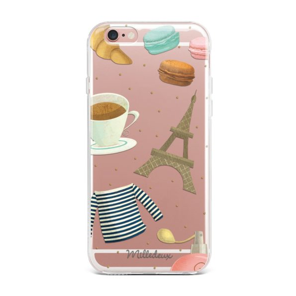 Milledeux Phone Cover – Paris Pattern – Clear