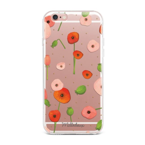 Milledeux Phone Cover – Satin Pattern – Large Clear