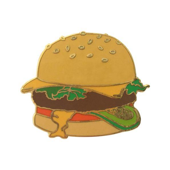 Burger pin badge