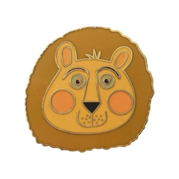 Lion pin badge