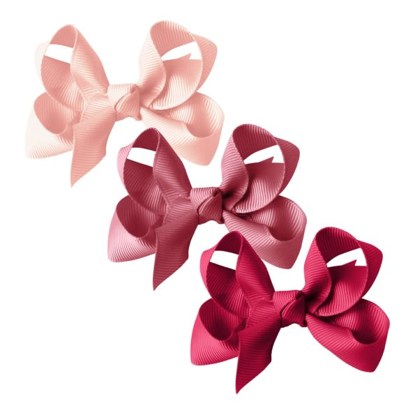 Milledeux gift set – Grosgrain Collection – 3 Medium boutique bows – pinks