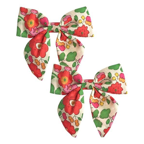 Milledeux Gift set – 2 Liberty bowtie bows – alligator clip – Betsy S
