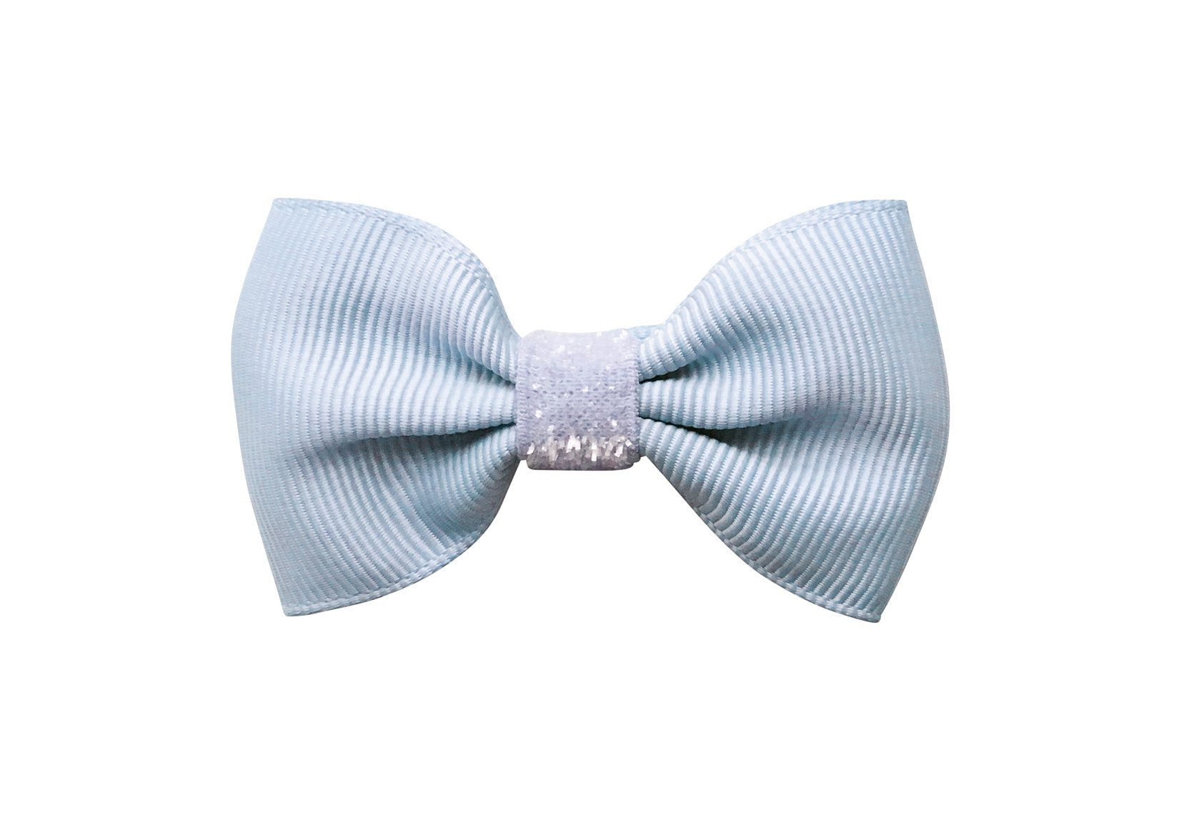 Colored Small Bowtie Bow with Colored Glitter Middle – Alligator Clip