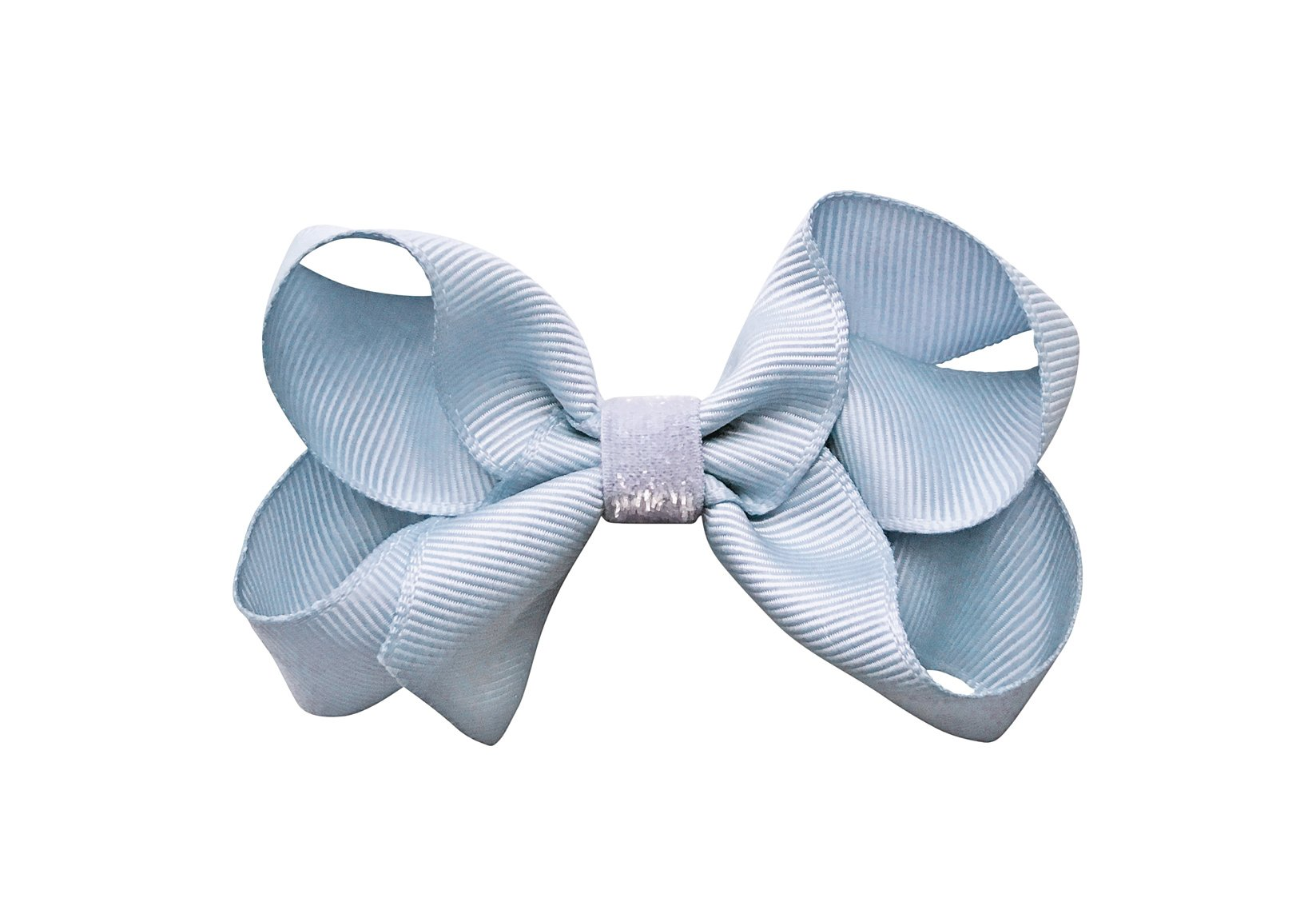 Colored Medium Boutique Bow with Colored Glitter Middle – Alligator Clip
