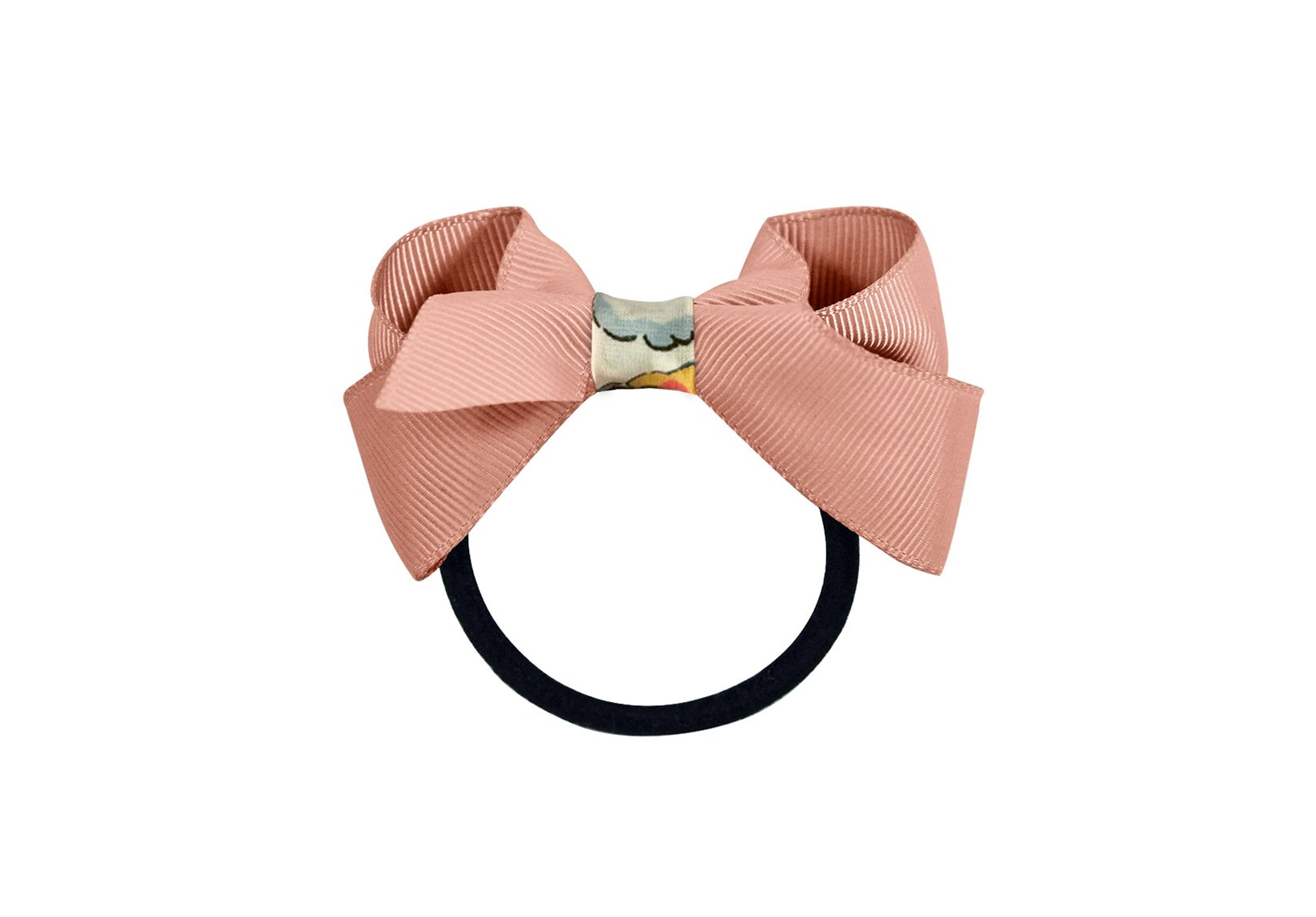 Medium Grosgrain Boutique Bow with Liberty Middle – Elastic Band