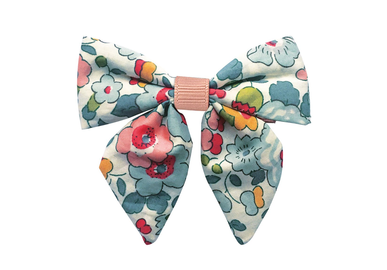 Medium Liberty Bowtie with Tails and Grosgrain Middle – Alligator Clip