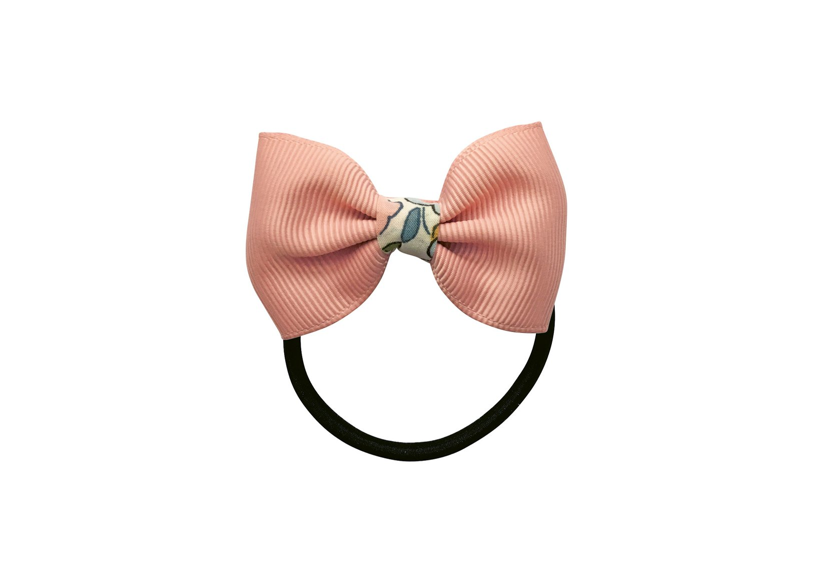 Small Grosgrain Bowtie Bow with Liberty Middle – Elastic Band