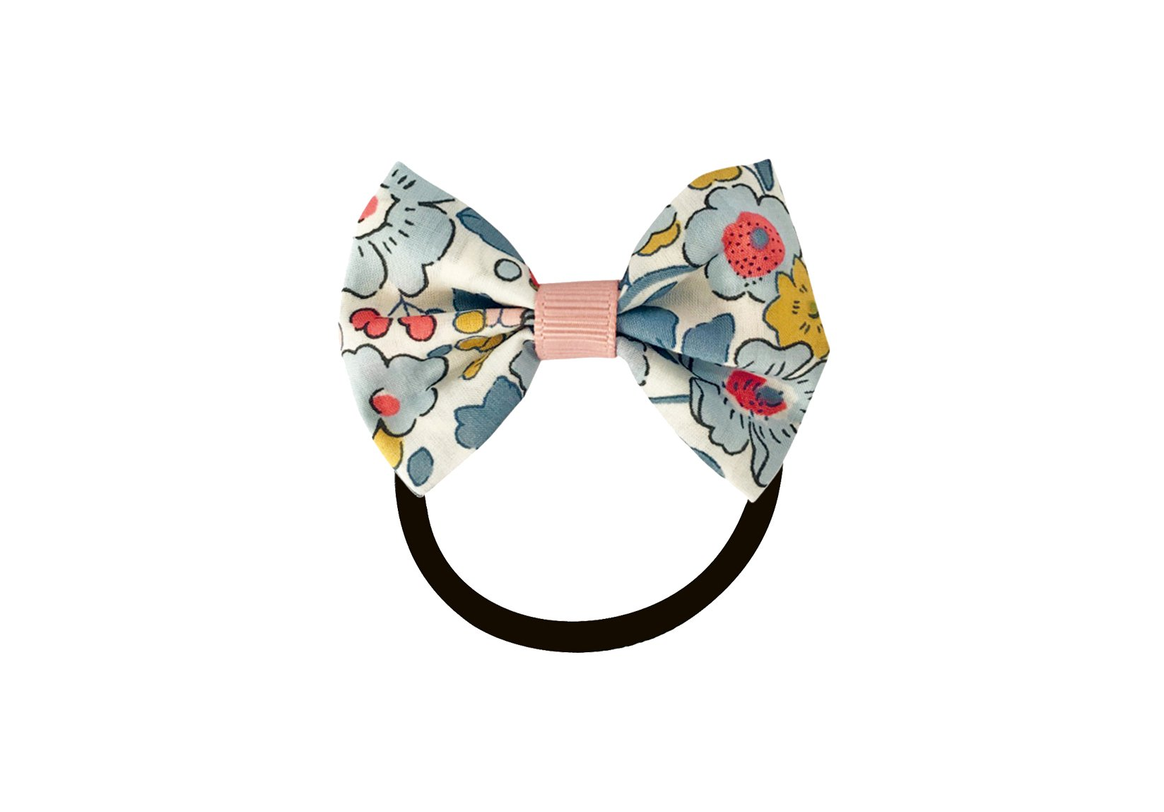 Small Liberty Bowtie Bow with Grosgrain Middle – Elastic Band