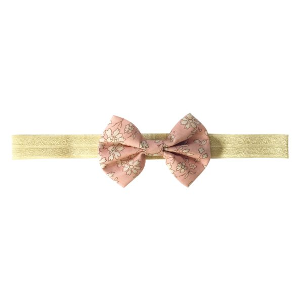 Small Bowtie Bow – elastic hairband – Liberty Capel S