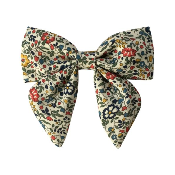 Medium bowtie with tails – alligator clip – Liberty Katie & Millie A