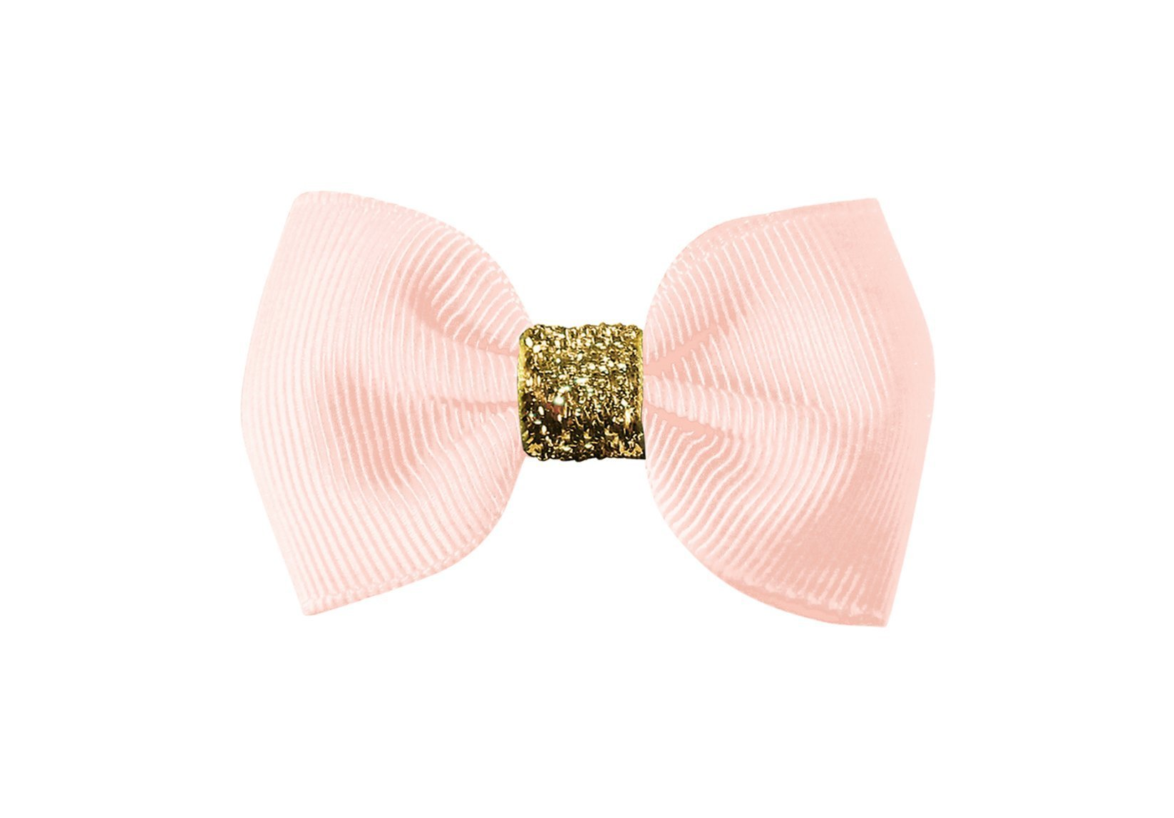 Small Bowtie Bow with Gold Middle