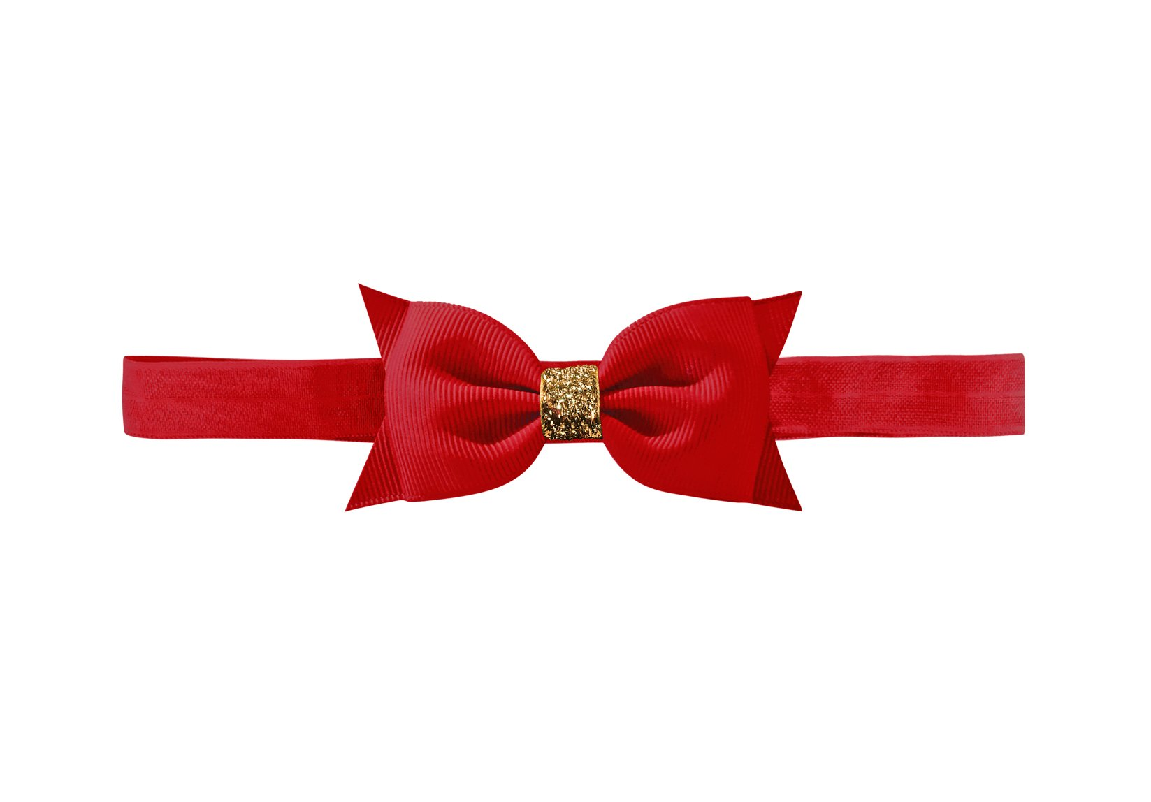 Double Bowtie Bow with Gold Middle