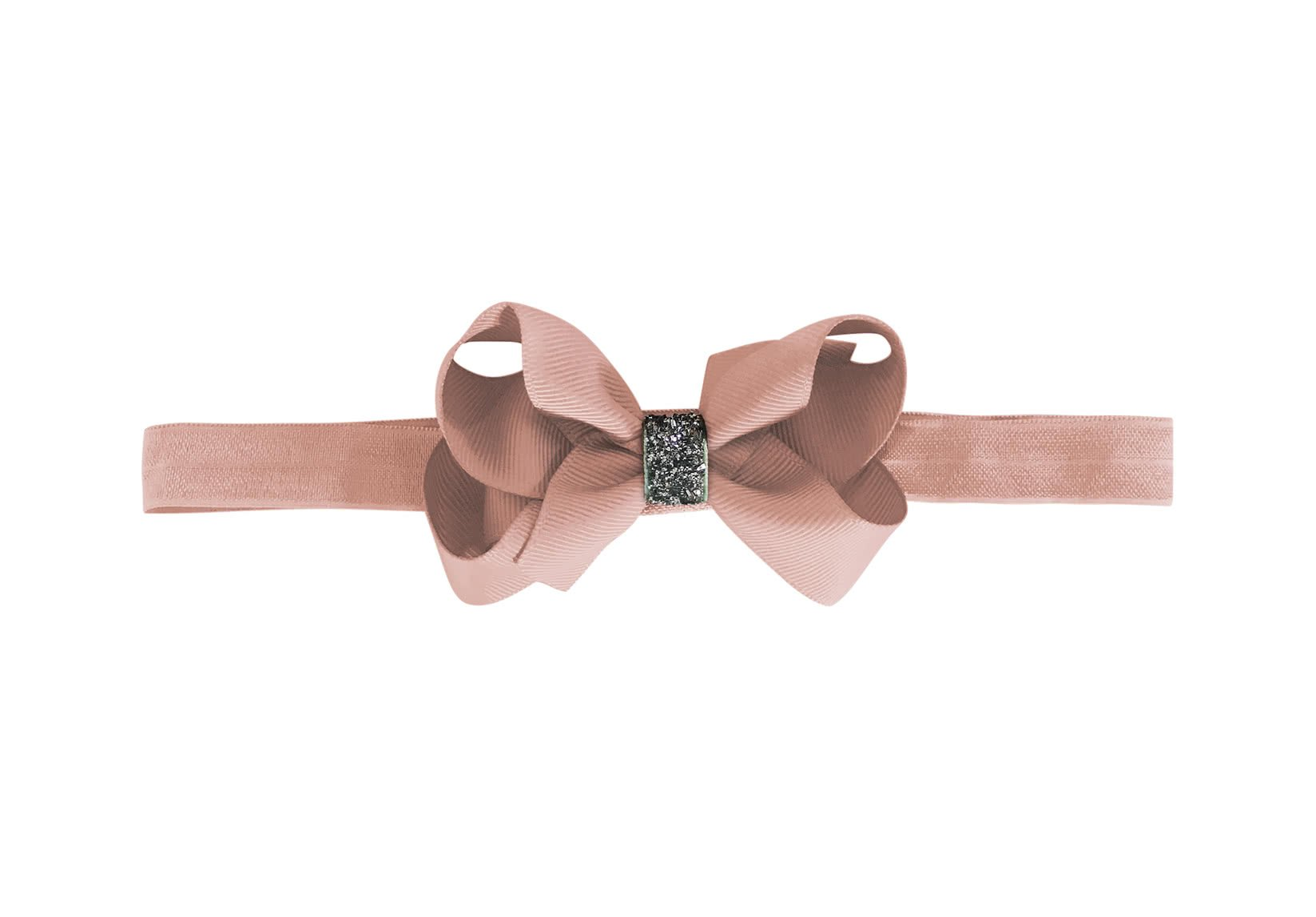 Medium Boutique Bow – Elastic Hairband – Glitter Collection