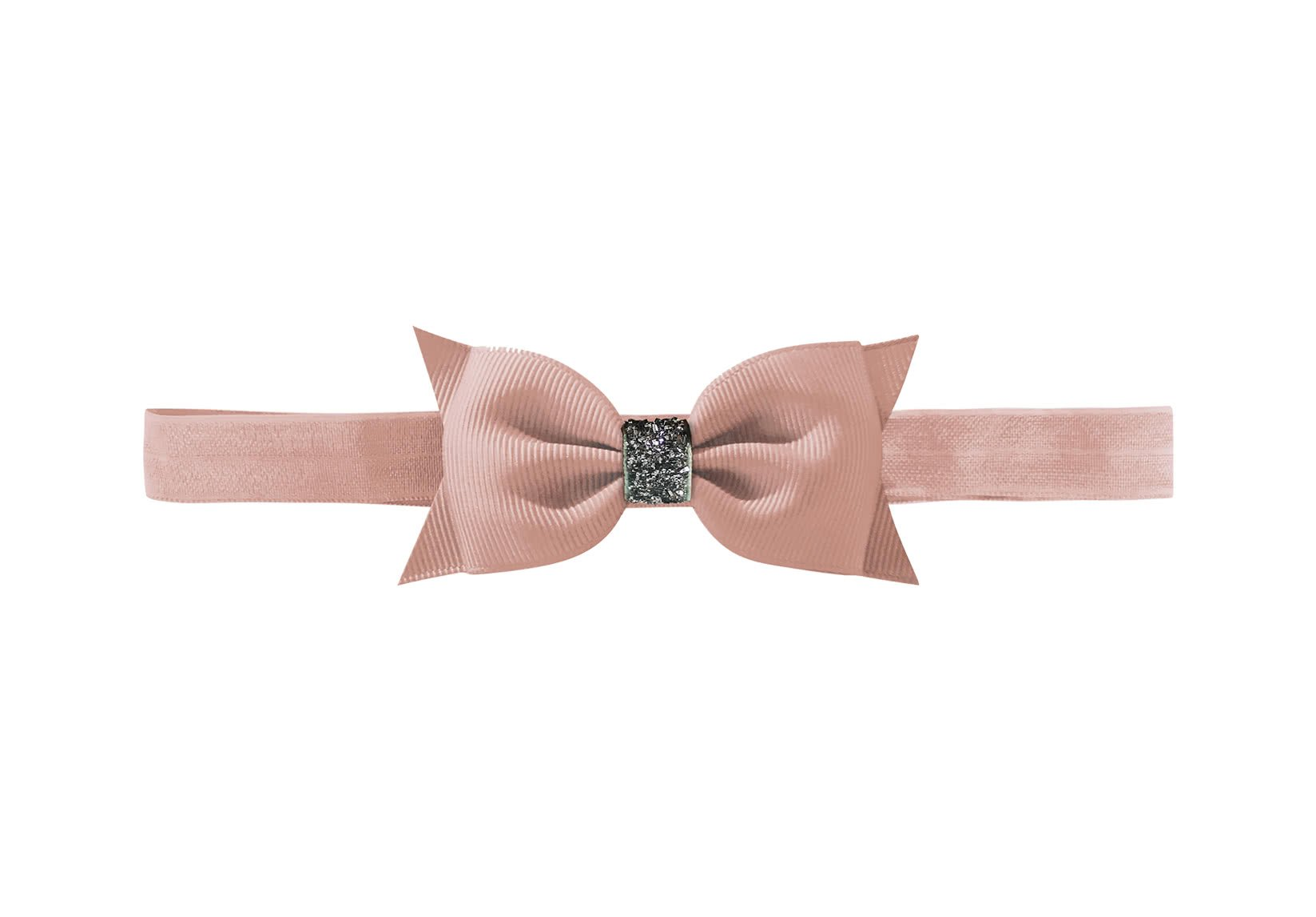 Double Bowtie Bow – Elastic Hairband – Glitter Collection