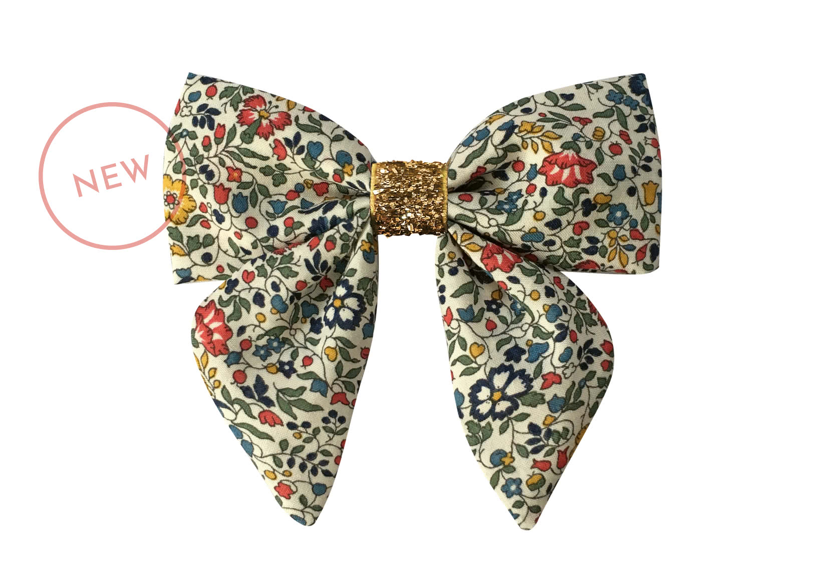 Medium Liberty Bowtie with Tails and Gold Middle