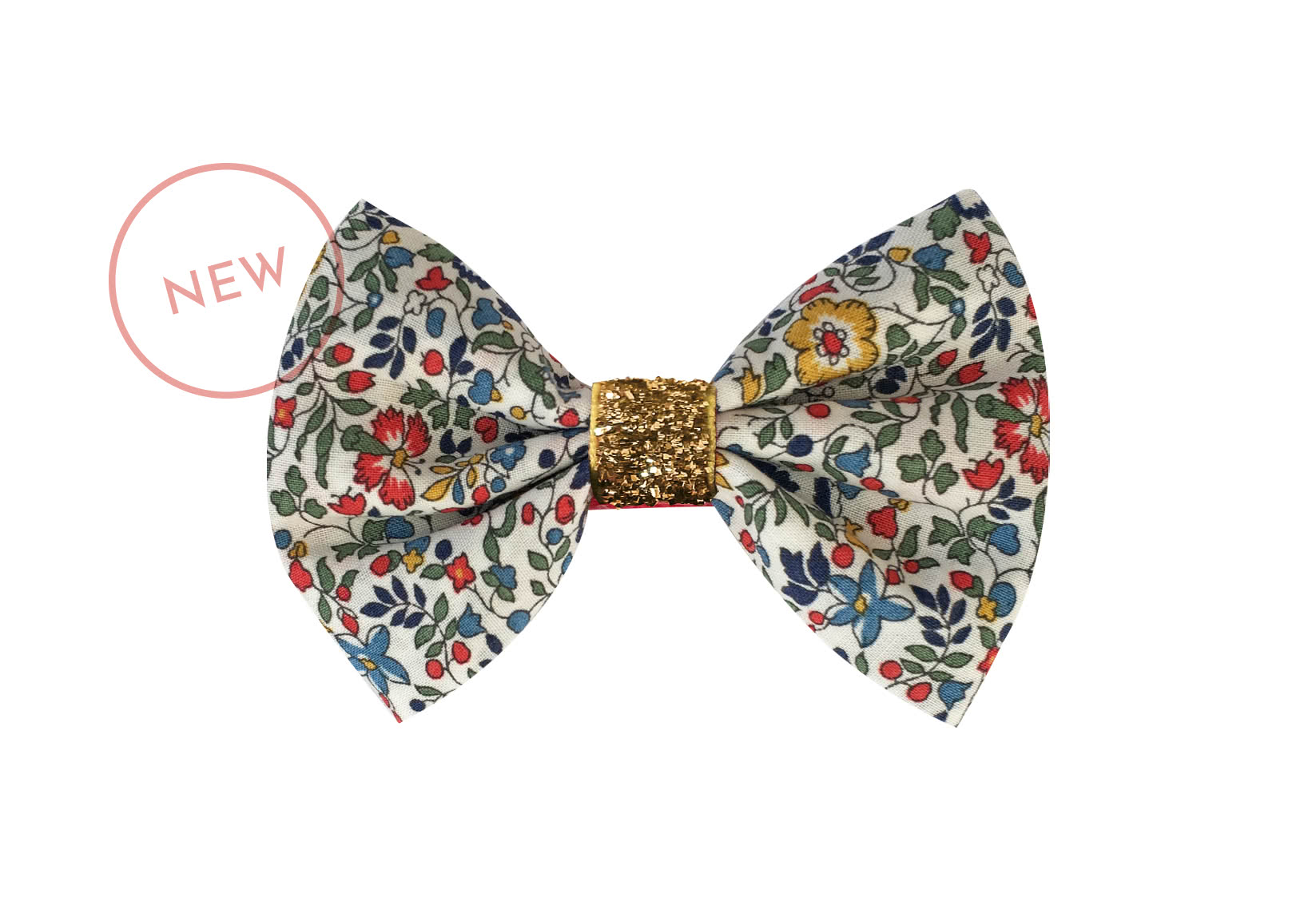 Small Liberty Bowtie Bow with Gold Middle