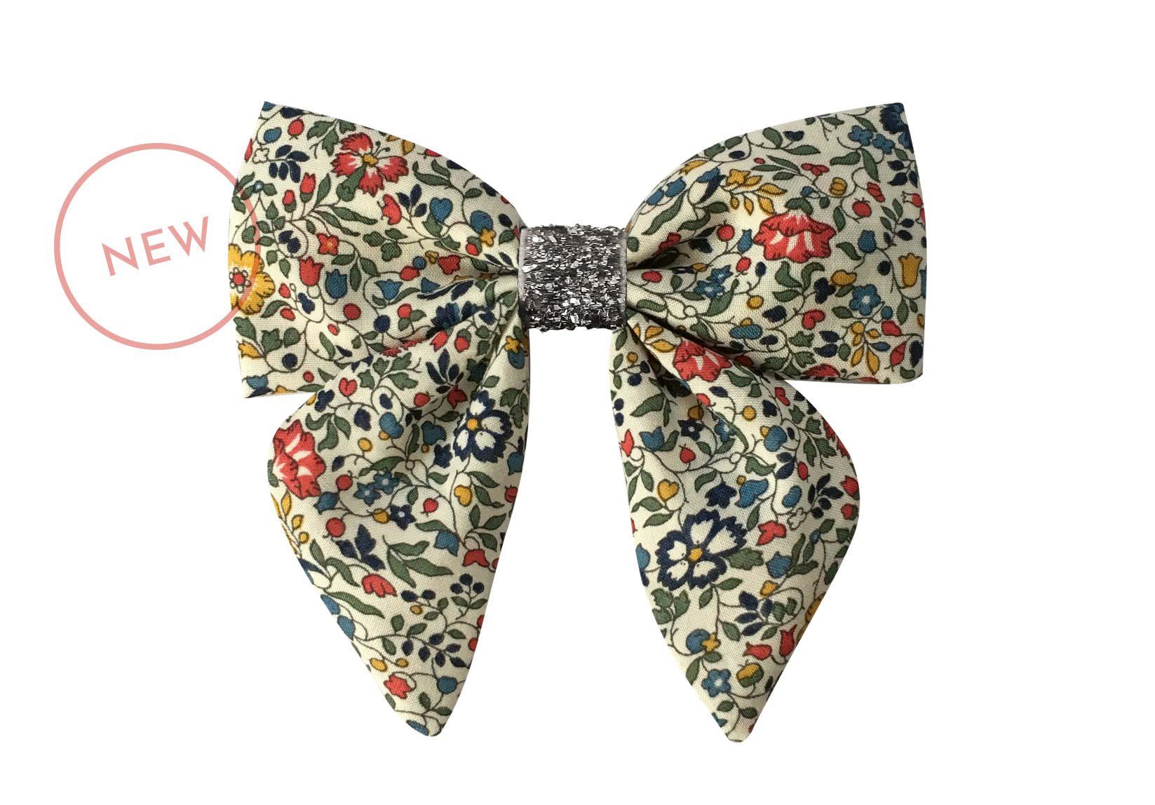 Medium Liberty Bowtie with Tails and Silver Middle