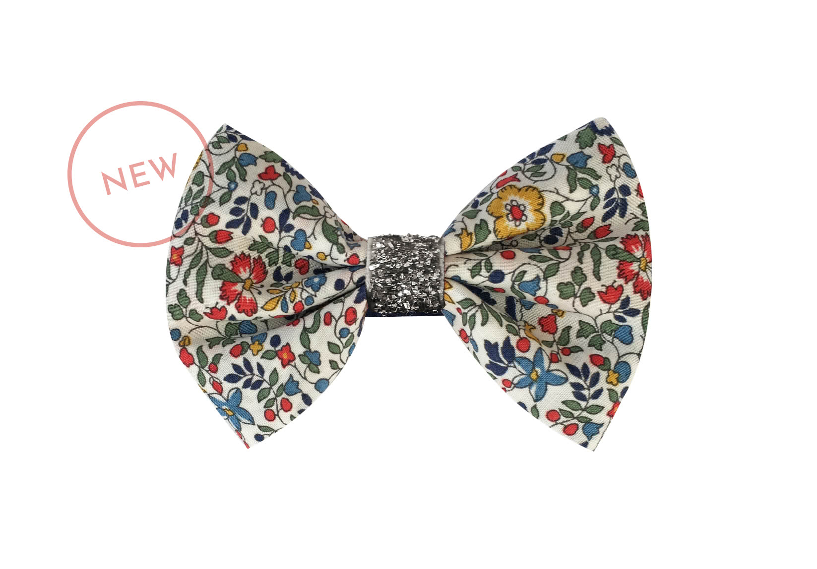 Small Liberty Bowtie Bow with Silver Middle