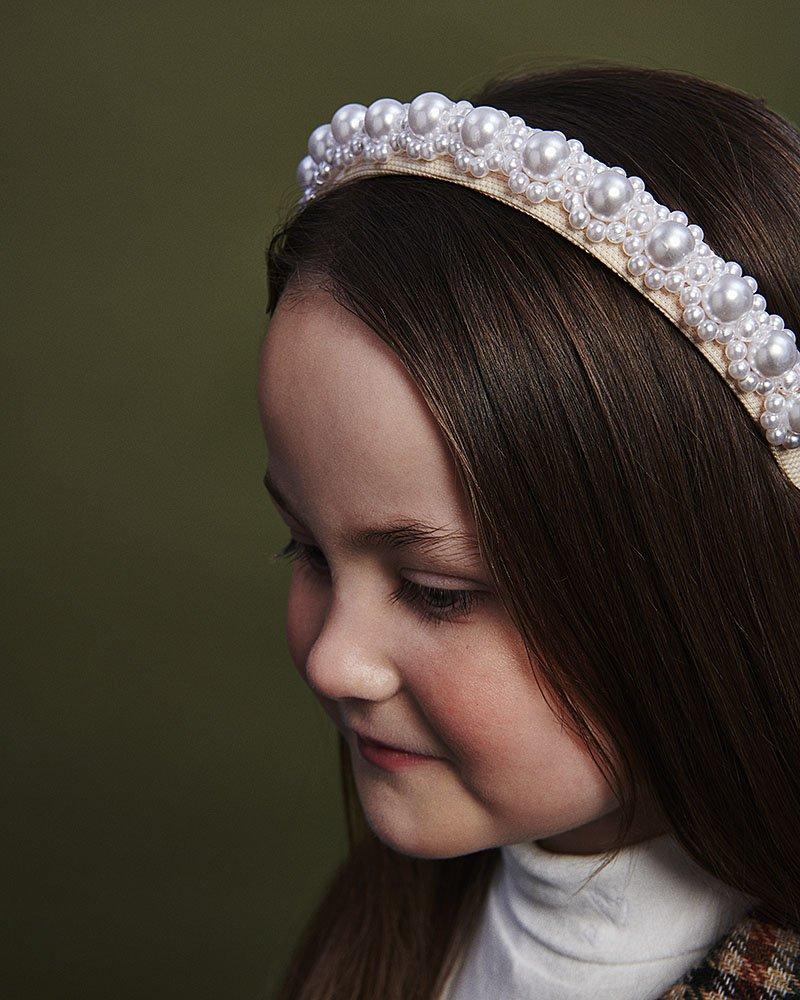 girls pearl hairband