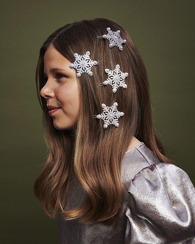 snow flake hair accessories
