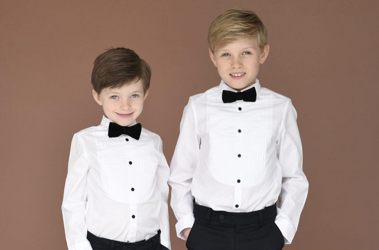 boys tuxedo black bow tie