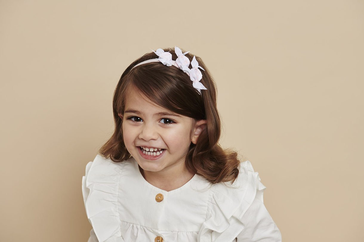 Cute hairstyle for toddler hair - candy headband