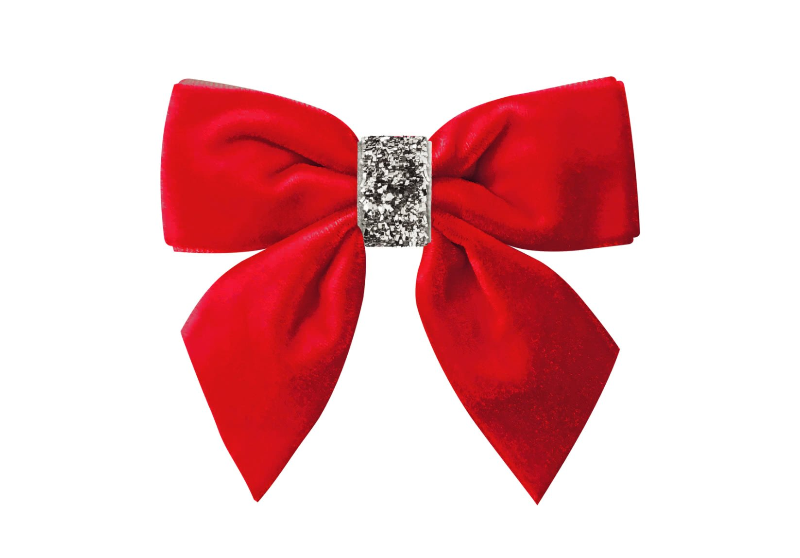 Medium Bowtie with Tails with Silver Middle
